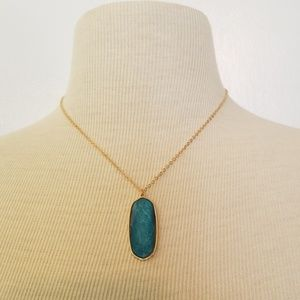 Jewelry - NWT Blue pendant on gold chain necklace